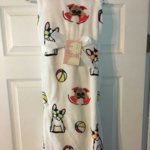 Pugs and Boston Terrier Or Frenchies Throw Blanket